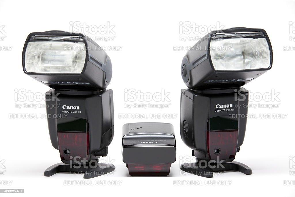 Canon Speedlite stock photo