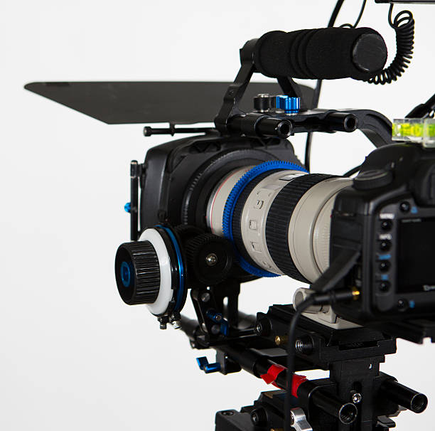 DSLR canon video camera stock photo