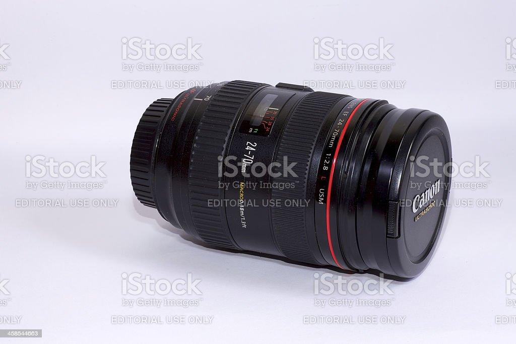 Canon Zoom Lens EF24-70mm F2.8L USM stock photo