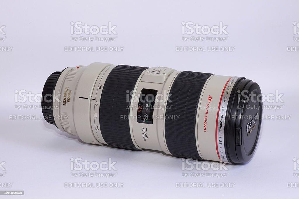 Canon Zoom Lens EF70-200 F2.8L stock photo