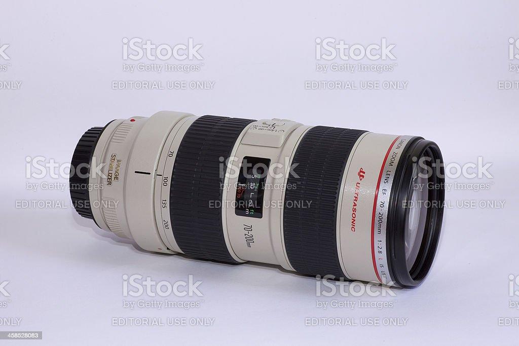 Canon Zoom Lens EF70-200 F2.8L USM stock photo