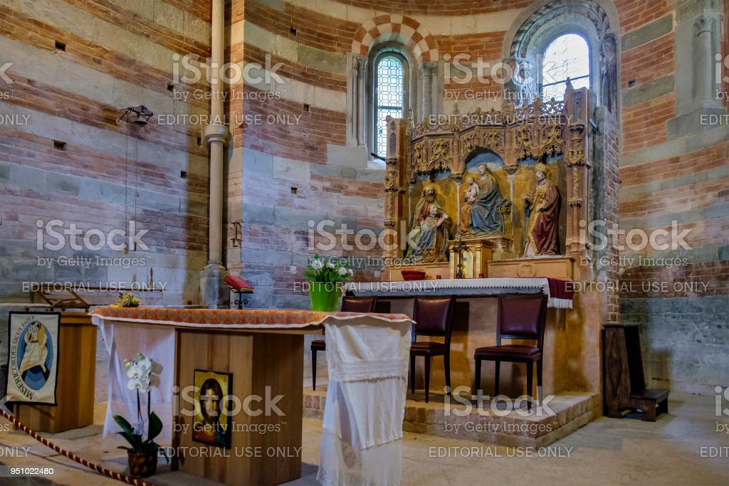 Canonica di Santa Maria di Vezzolano, Italy stock photo