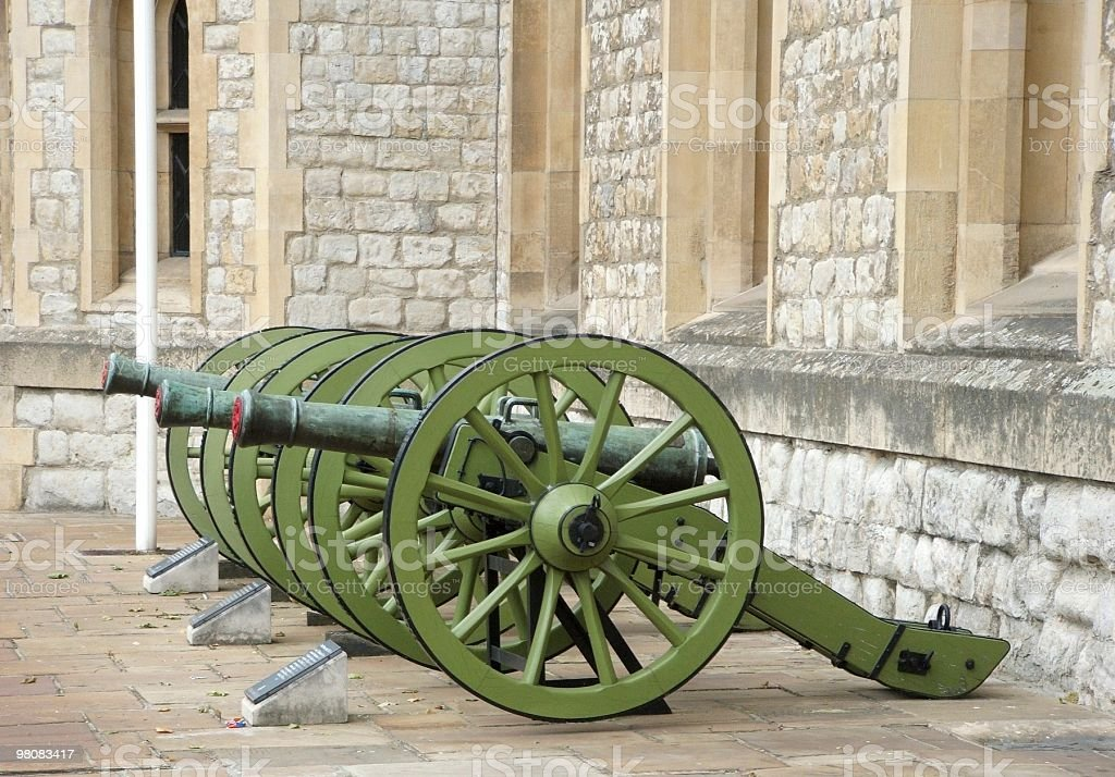 canons at the tower royalty-free stock photo