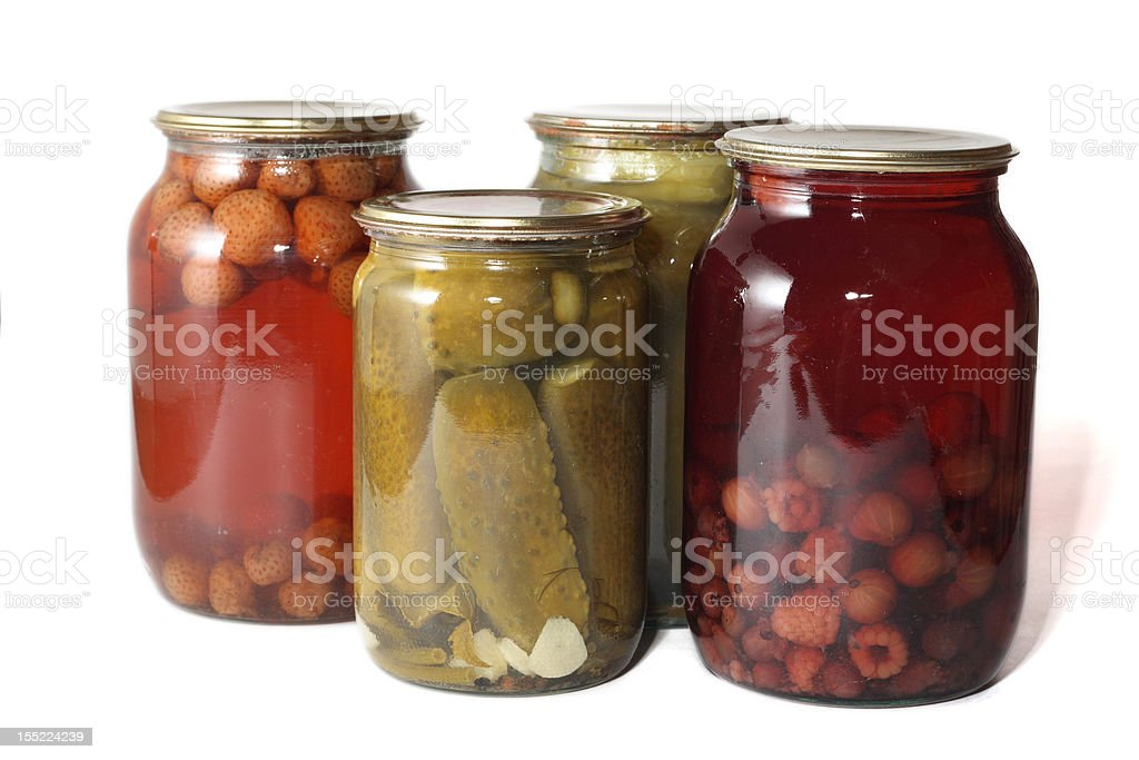 cans of preserves royalty-free stock photo