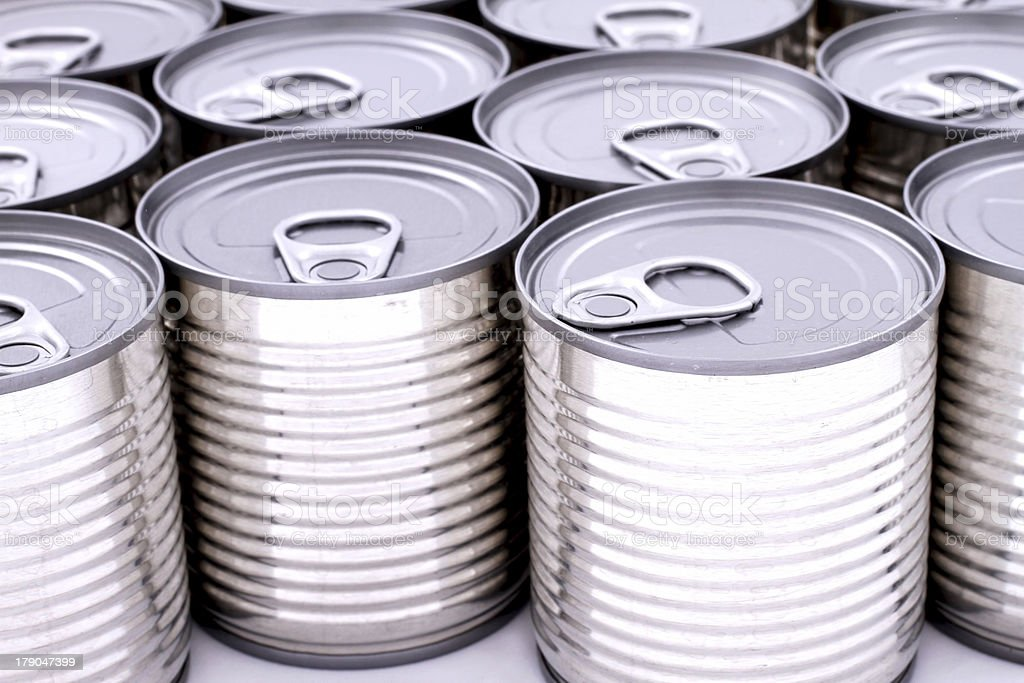 Cans royalty-free stock photo