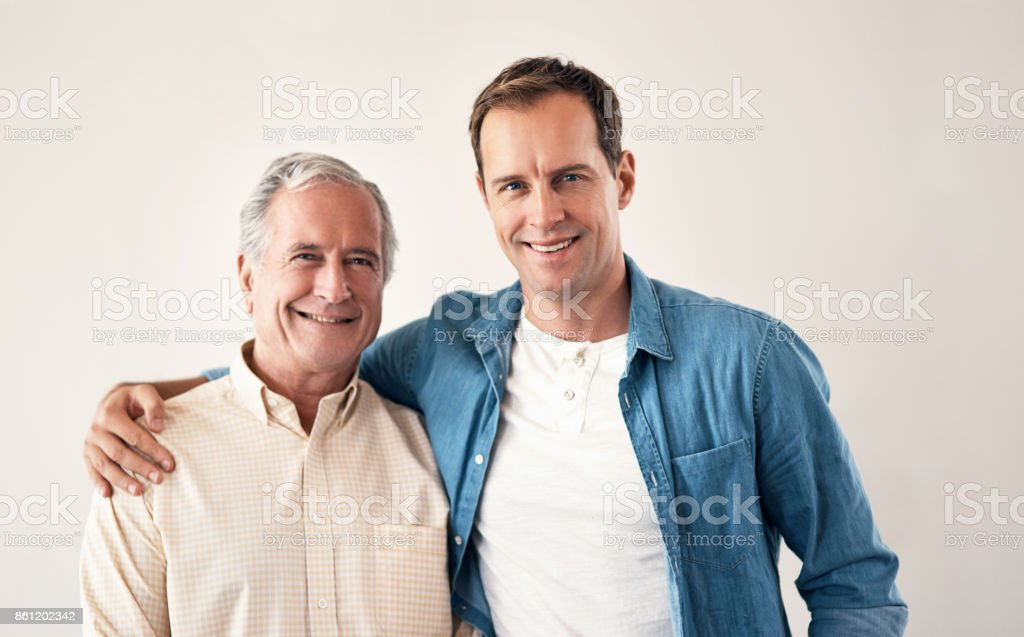 Cant beat that father son bond stock photo