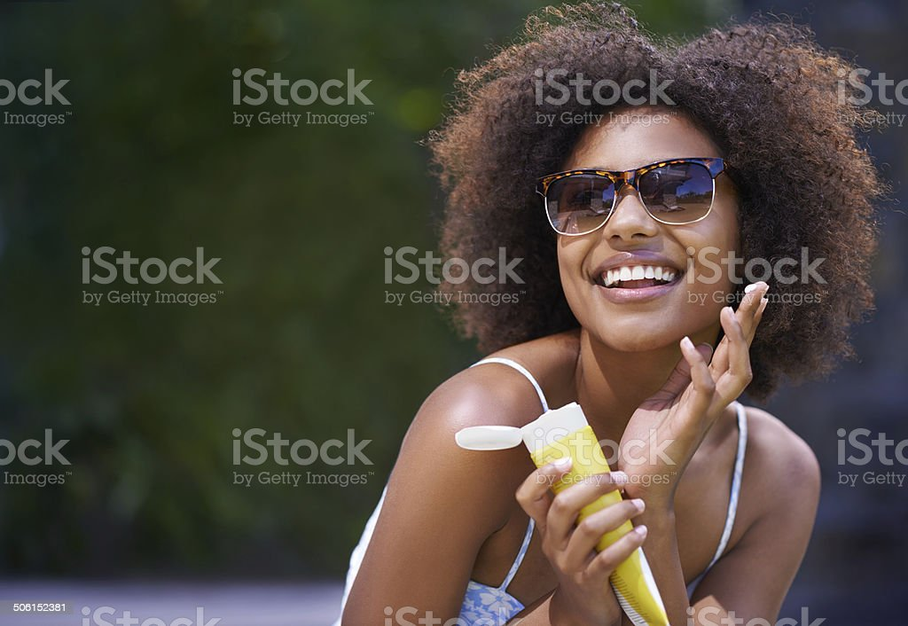 I can't believe I'm finally on holiday! stock photo