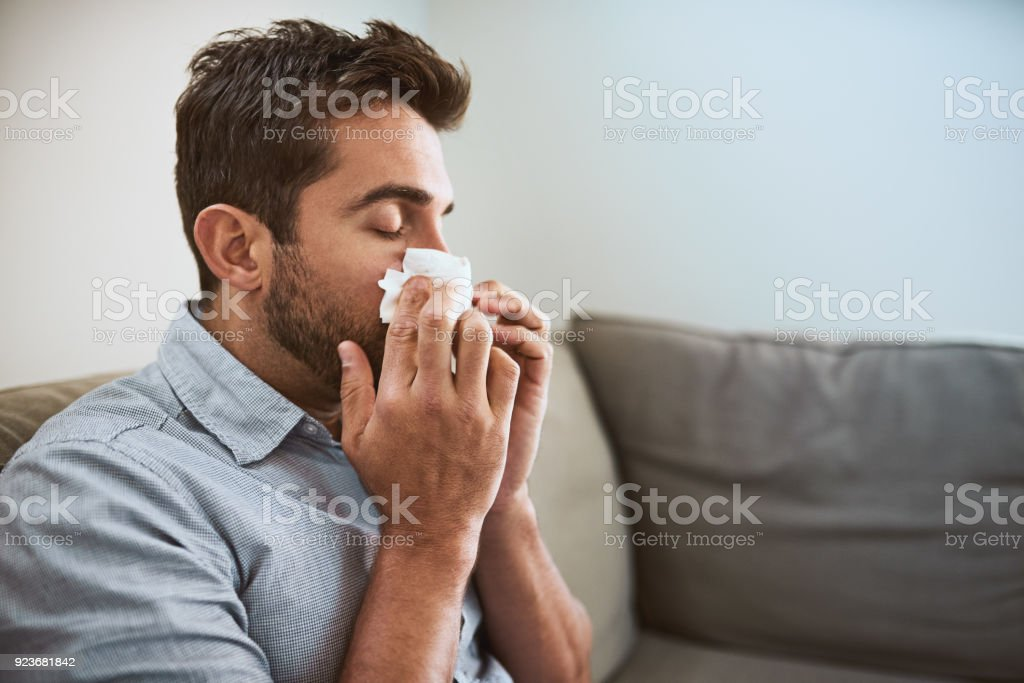 Can't believe I'm sick again stock photo