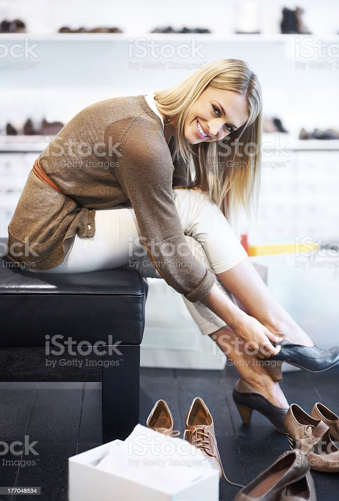I can't get enough shoes! royalty-free stock photo