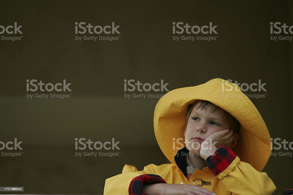 Can't go out to play royalty-free stock photo