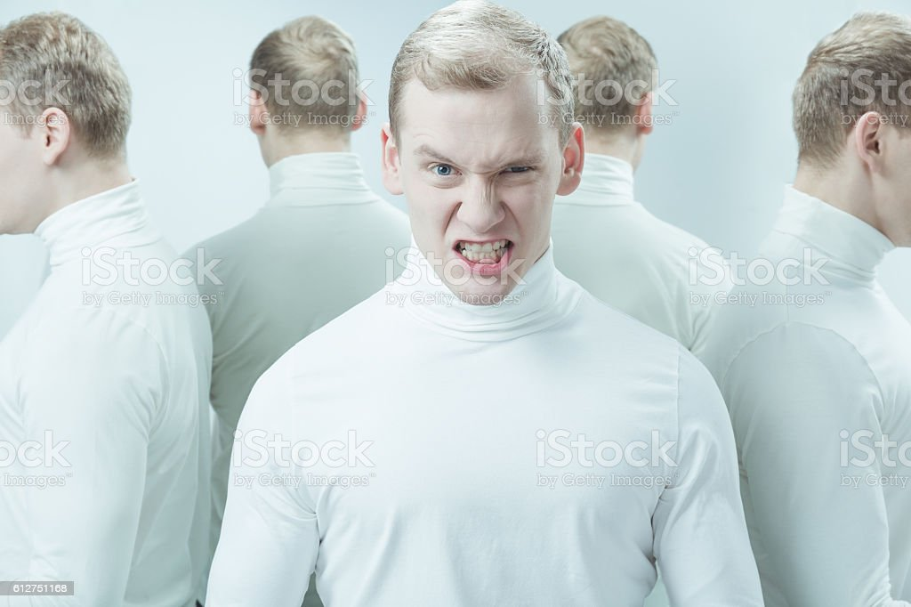 Can't handle with hissy fit stock photo