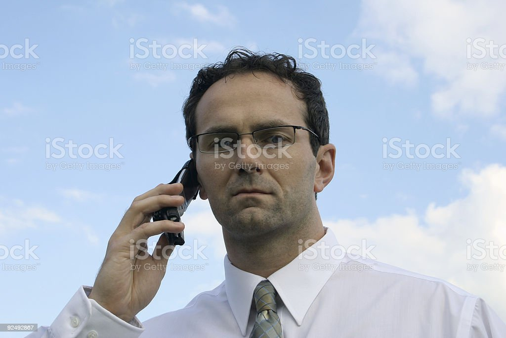 Can't hear you royalty-free stock photo