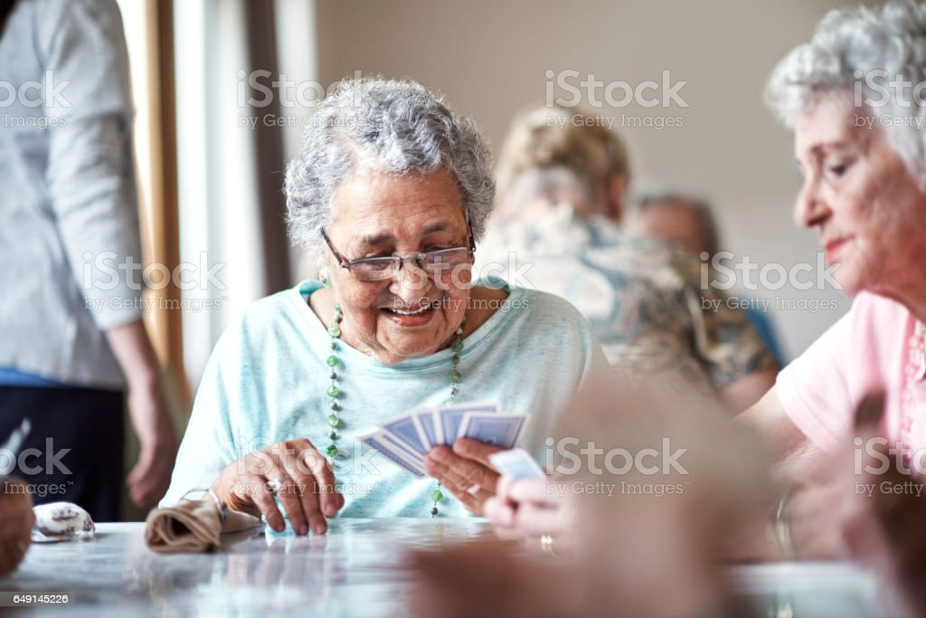 I can't lose with this hand stock photo