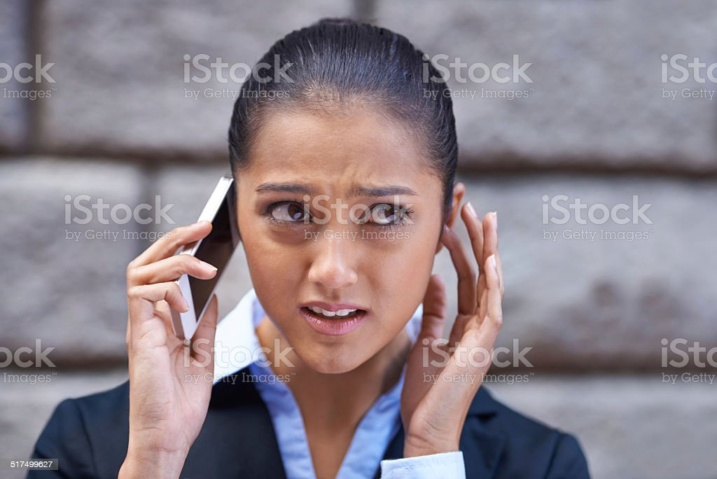 I can't quite hear you stock photo