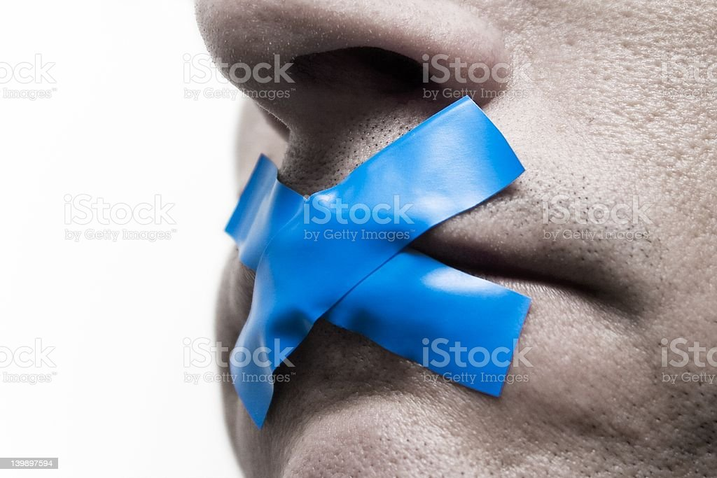 I Can't Speak stock photo