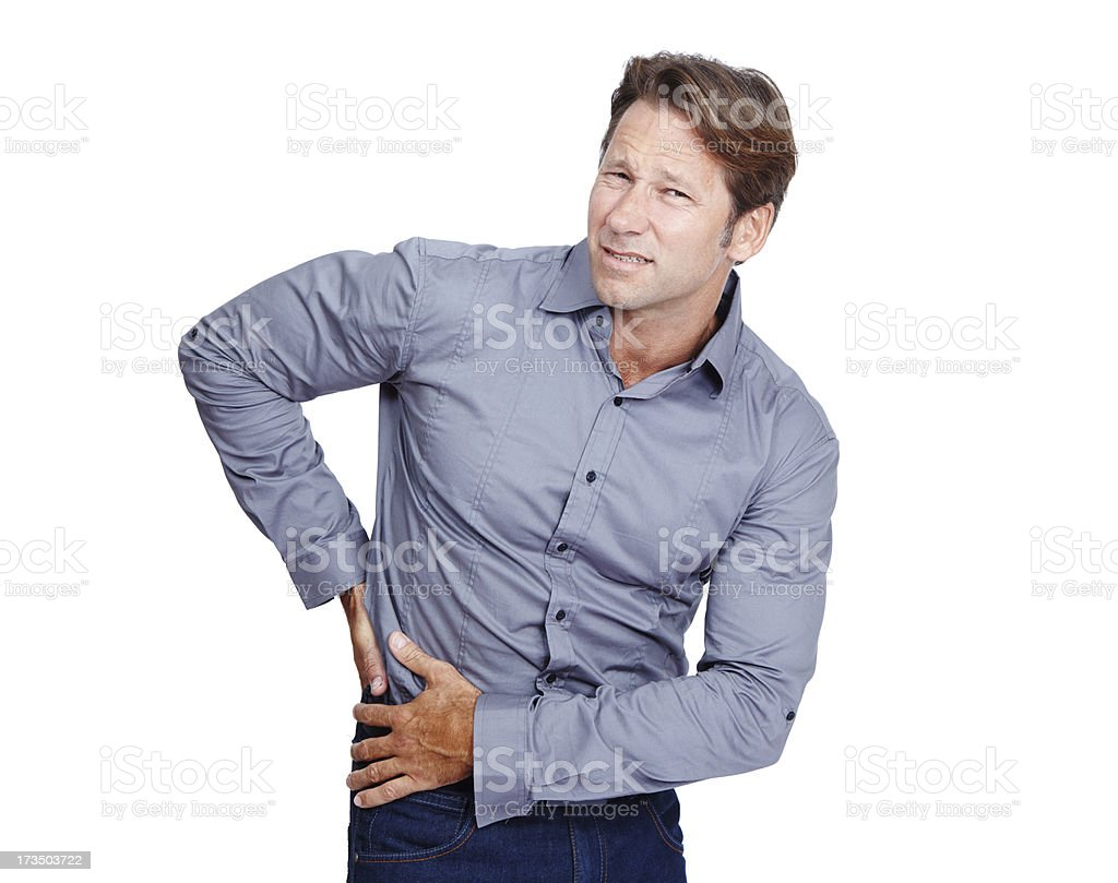 I can't stand this pain anymore royalty-free stock photo