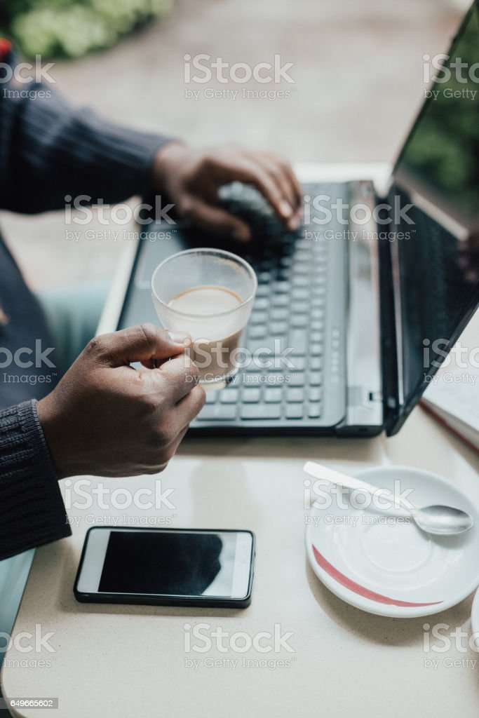 Can't start my morning without dose of coffee stock photo