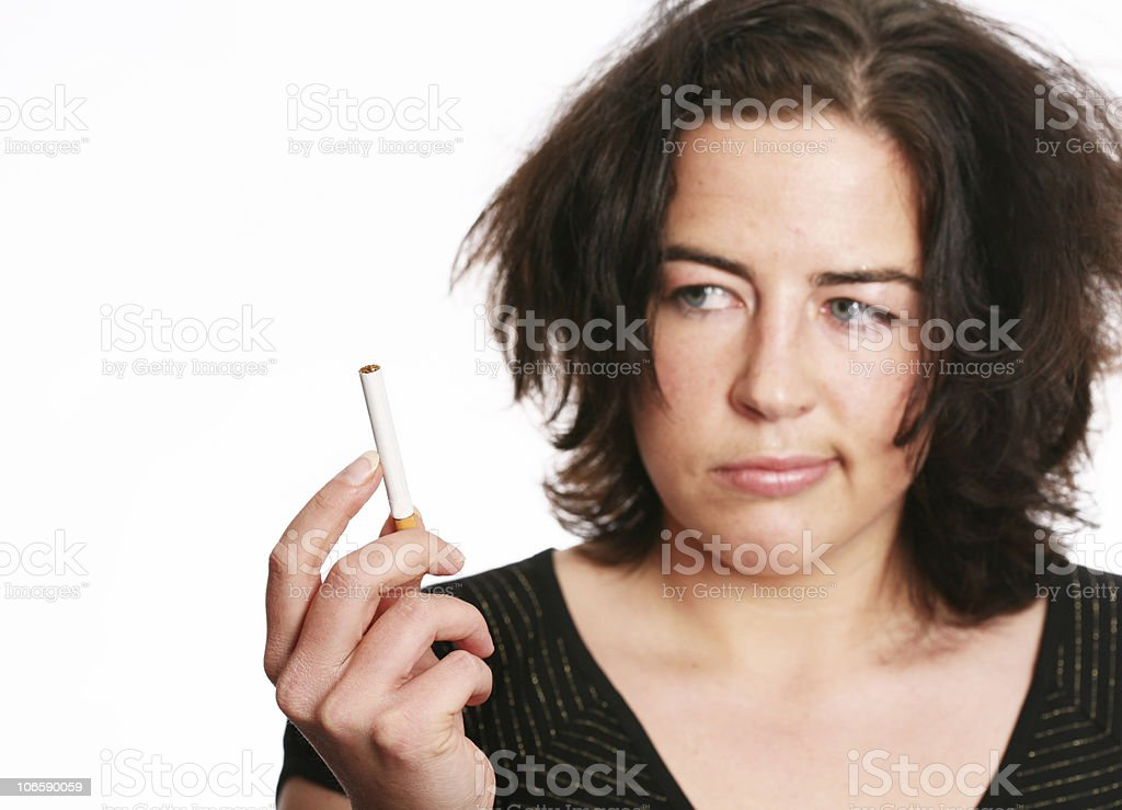 Can`t stop smoking royalty-free stock photo