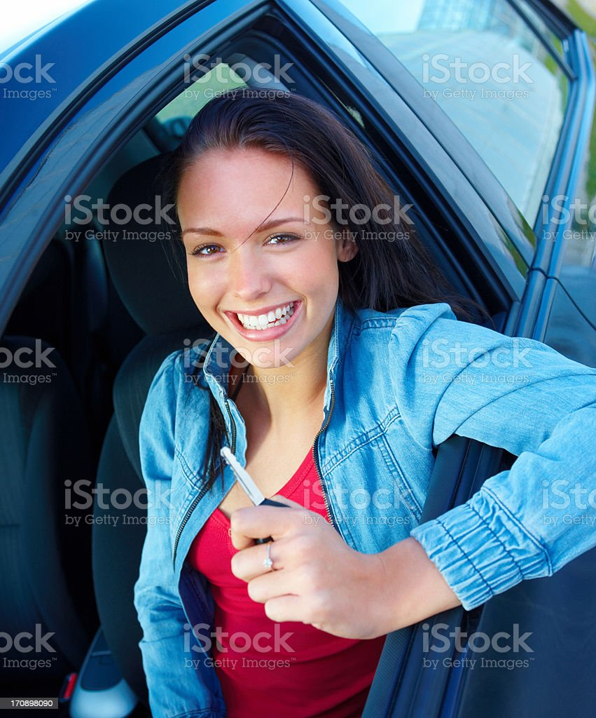 I can't wait to get out on the open road! royalty-free stock photo