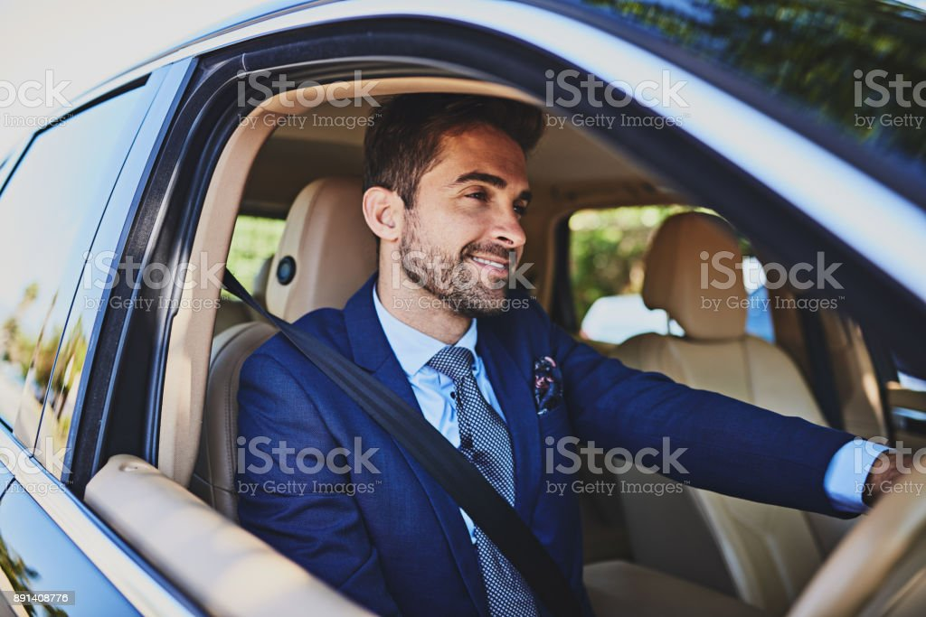 I can't wait to get to work and start the day good stock photo