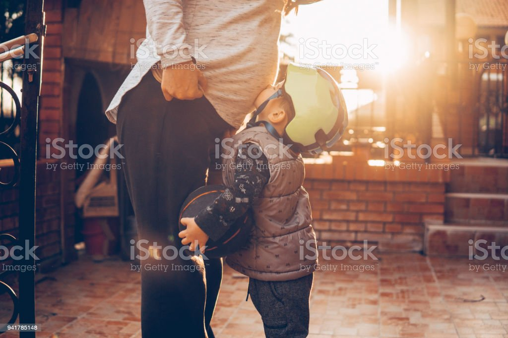 I cant wait to meet my sibling stock photo