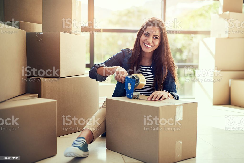 I can't wait to move into my dream home soon stock photo