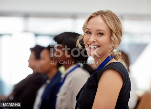istock Can't wait to see what's in store at this conference 892252440
