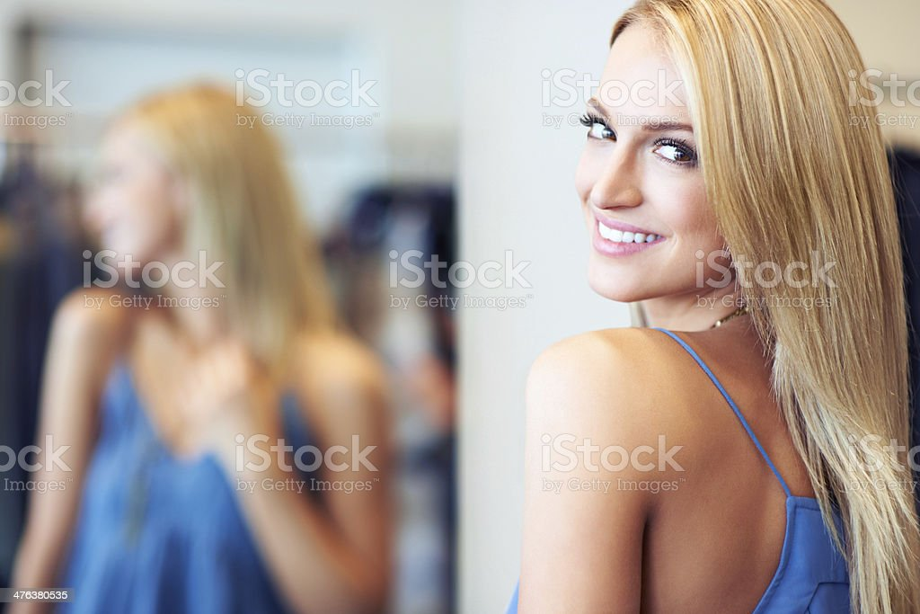 Can't wait to show my new dress off! royalty-free stock photo