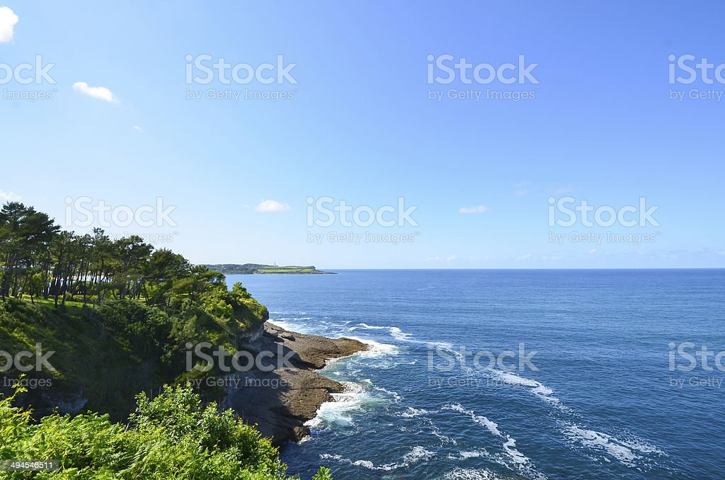 Cantabrian Coastline - Costa cantábrica stock photo