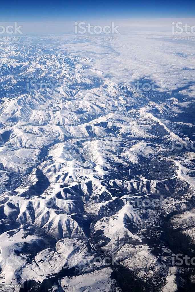 Cantabrian mountains royalty-free stock photo