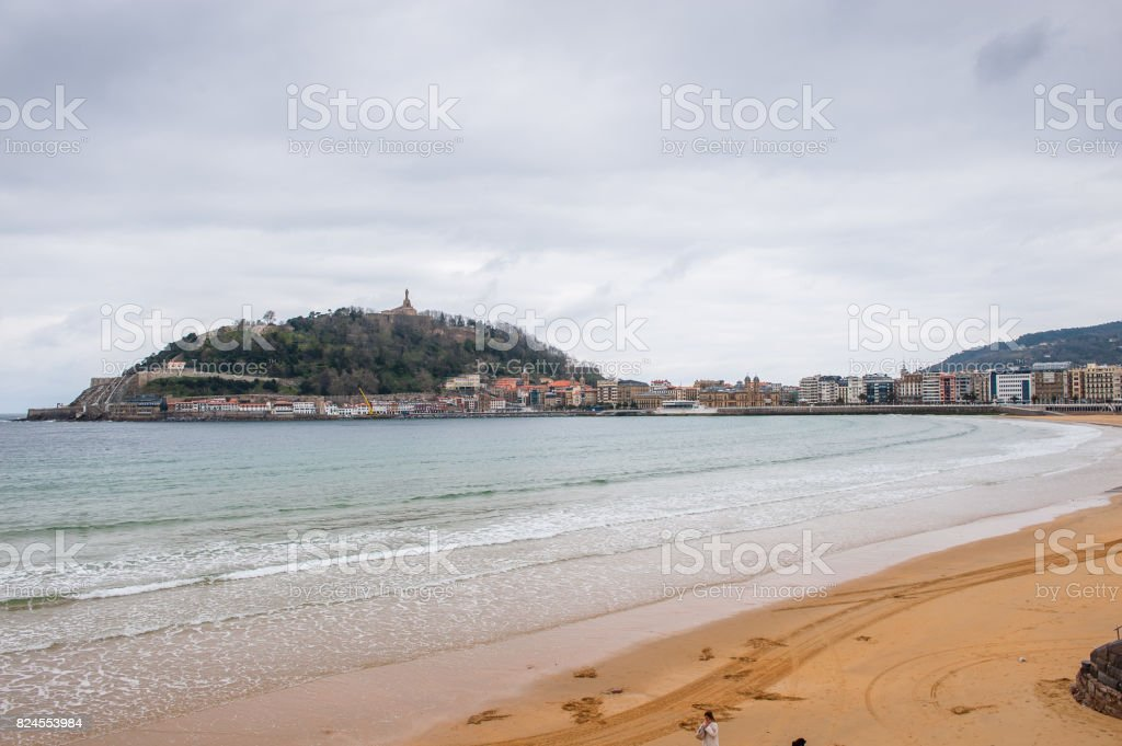 Cantabrian Sea Beach Landscape San Sebastian Basque Country Spain