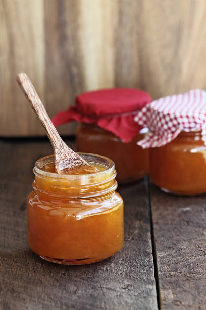Cantaloupe jam stock photo