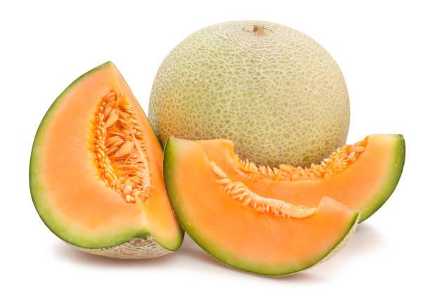 cantaloupe melon - maturo foto e immagini stock