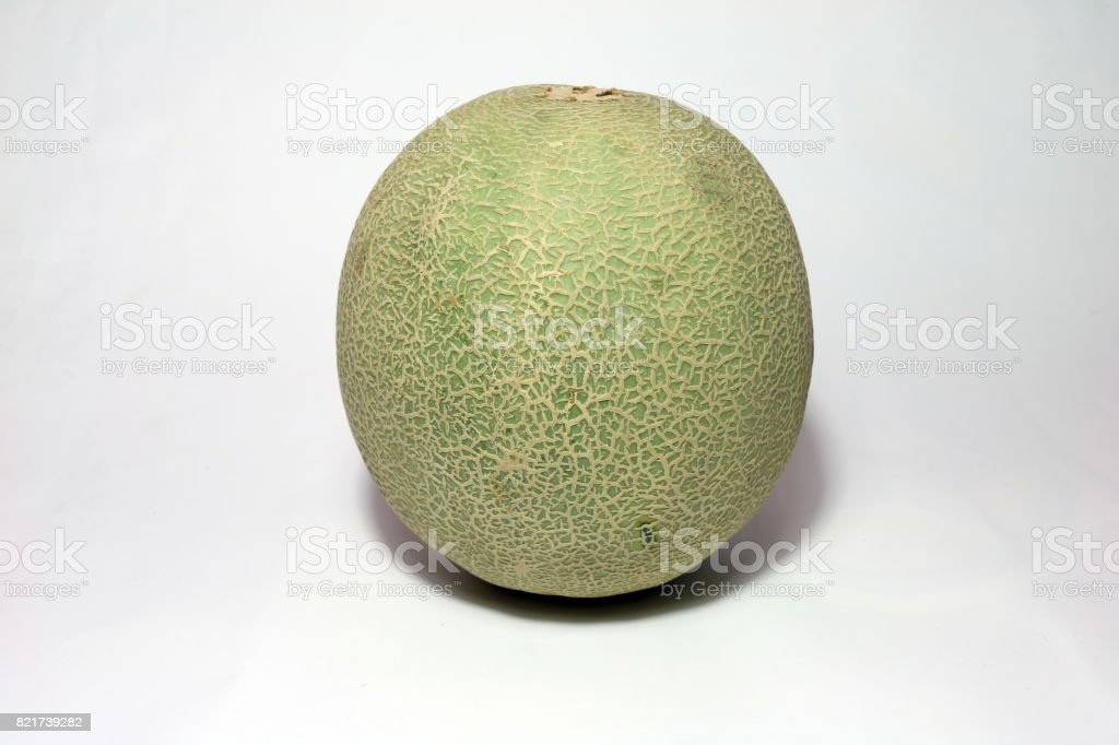 Cantaloupe on white background. stock photo