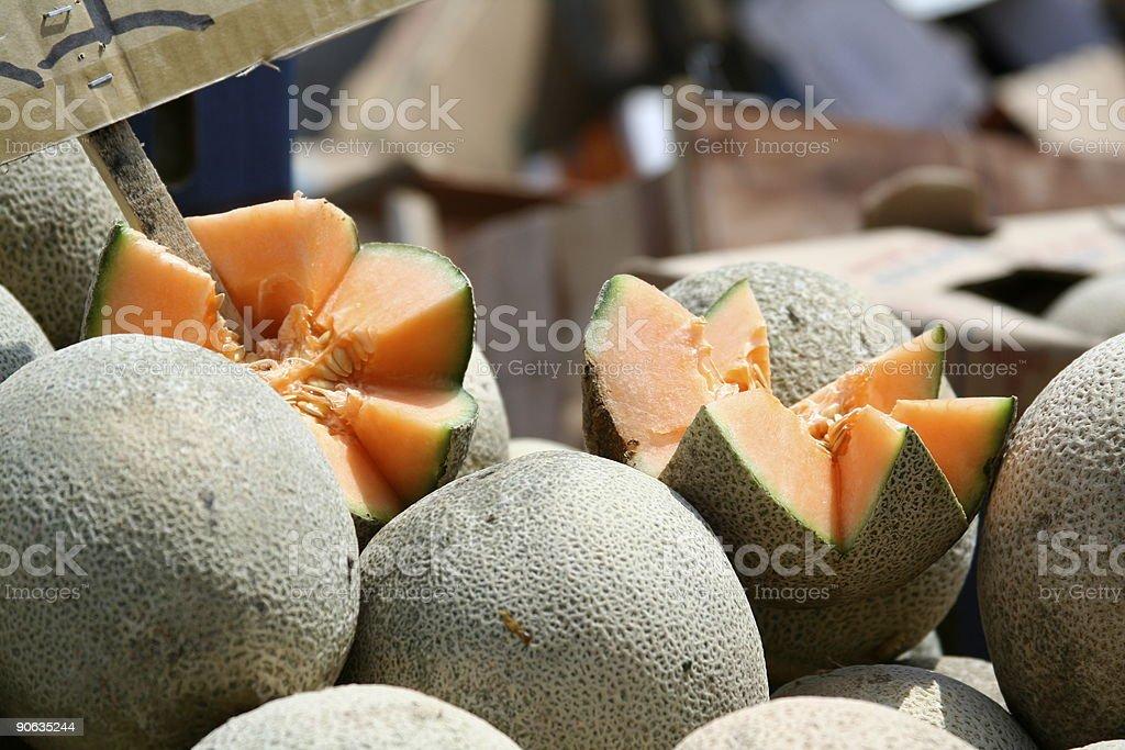 Cantaloupes for Sale stock photo