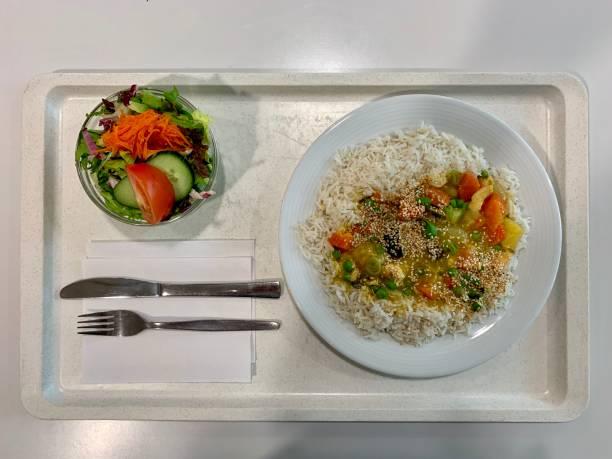 Kantine Food Chicken Curry mit Reis – Foto