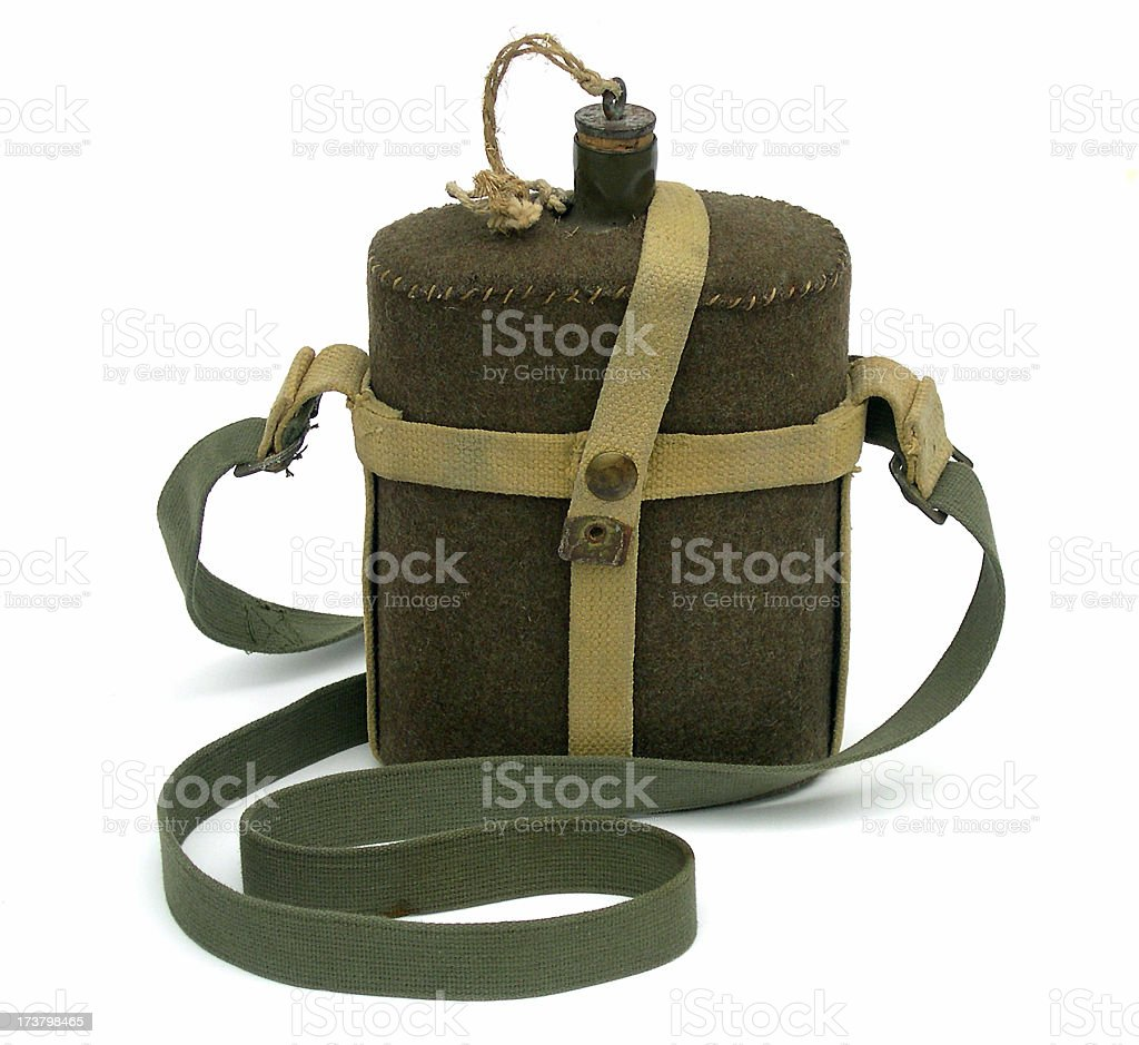 Canteen from World War II royalty-free stock photo
