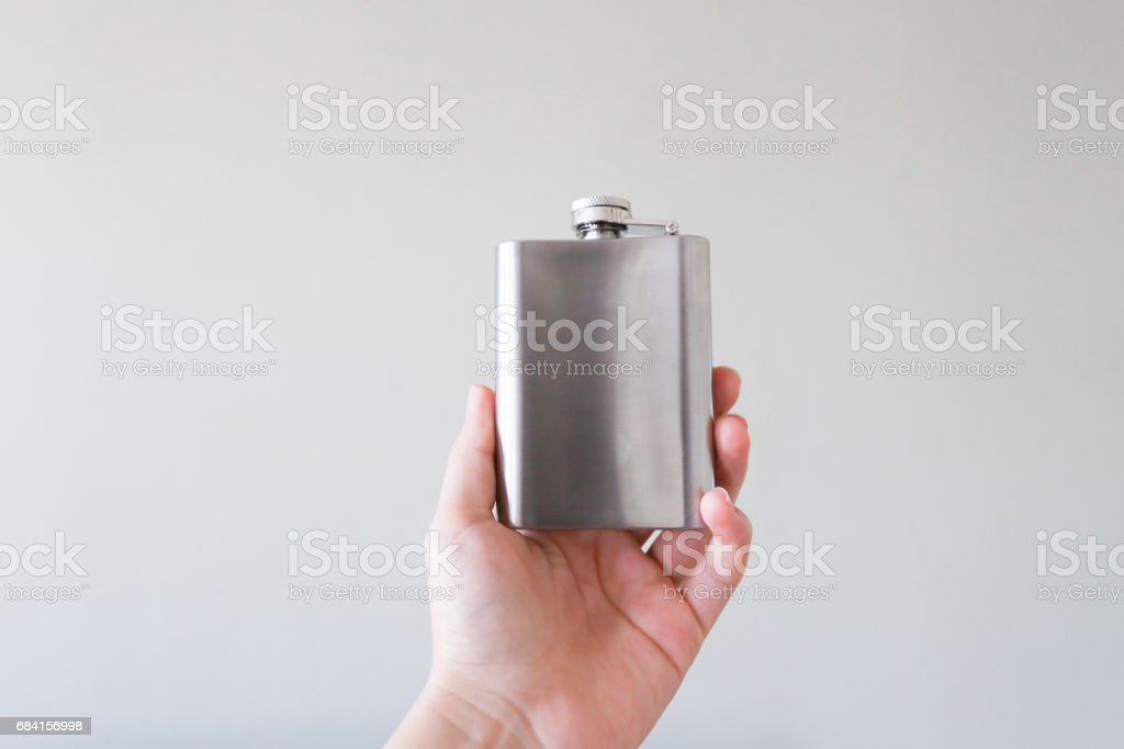 A canteen in the hand foto stock royalty-free