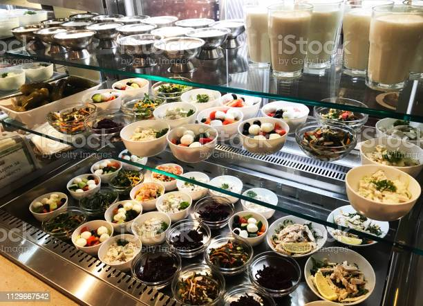 Canteen type of food service healthy organic salads and beverages on picture id1129667542?b=1&k=6&m=1129667542&s=612x612&h=ywrjx0hrgdfiumwmna31s1jwneexp79hnn6i i3xf30=