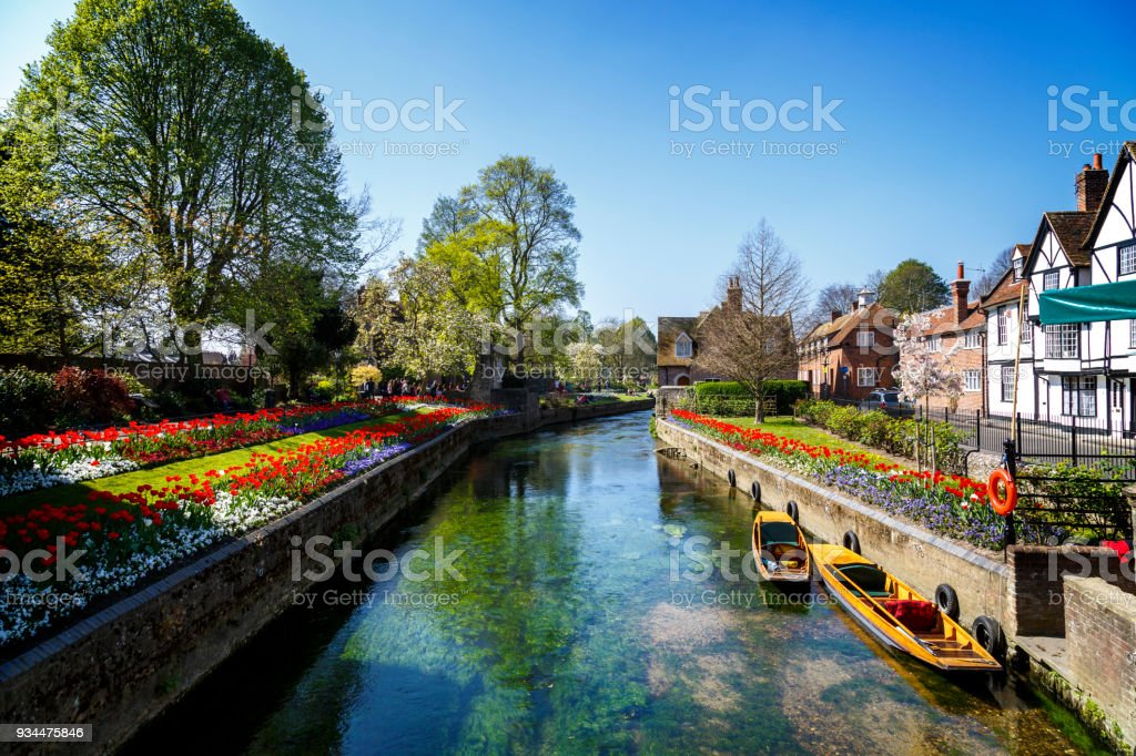 Canterbury Canal stock photo