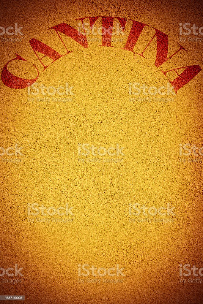 Cantina - sign on the wall royalty-free stock photo