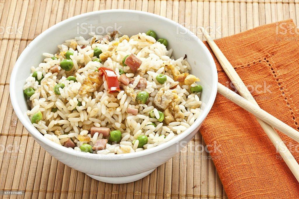 canton chinese rice stock photo