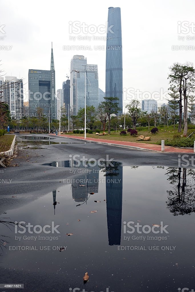 Canton Skyline South East China royalty-free stock photo