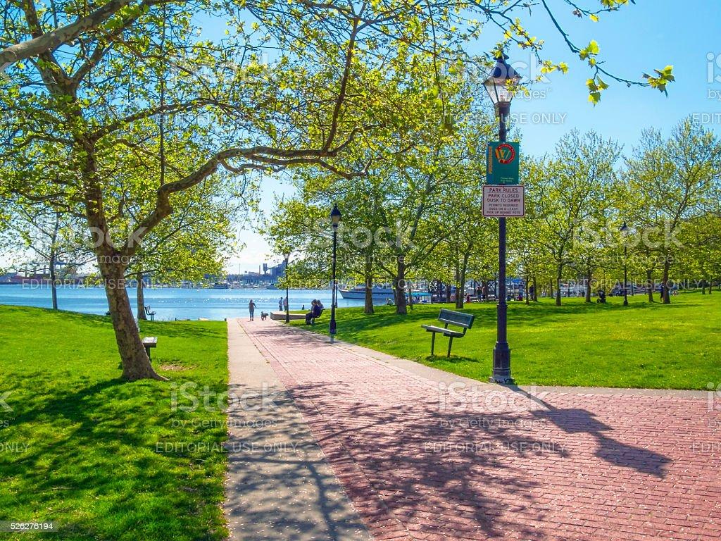 Canton Waterfront Park stock photo