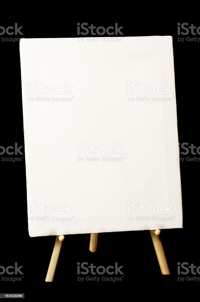 Canvas & Easel royalty-free stock photo