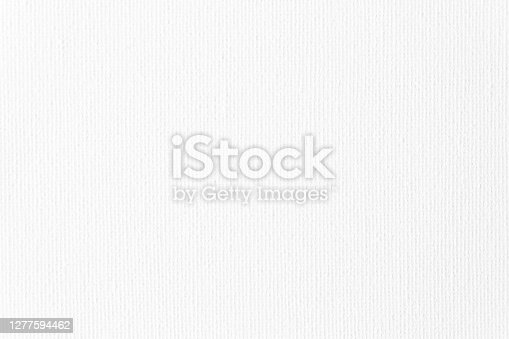 istock Canvas Art Background White Total Linen Texture Cotton Pattern Close-Up 1277594462