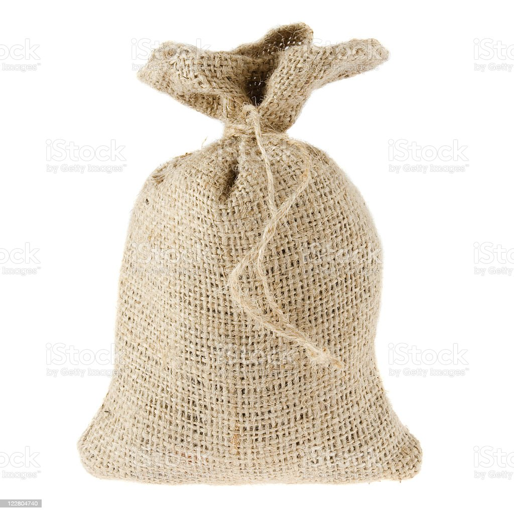 Canvas bag isolated on white royalty-free stock photo