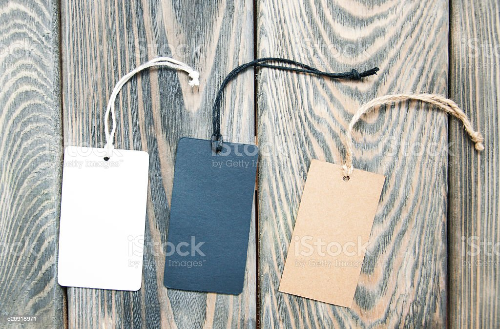 Canvas empty price tags stock photo