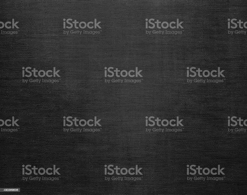 Canvas grunge background texture in black color stock photo