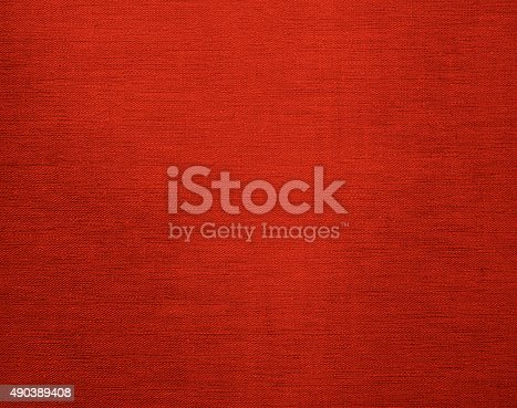 istock Canvas grunge background texture in red color 490389408